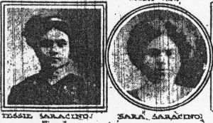 Sarafina and Teresina Saracina, two sisters who died in the 1911 Triangle Shirtwaist Fire